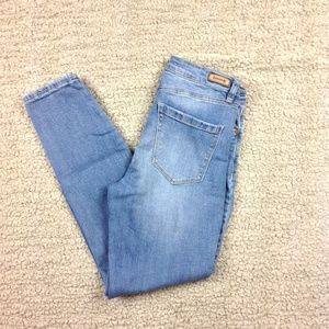Blank NYC Lace Up Light Denim Skinny Jeans Sz 29